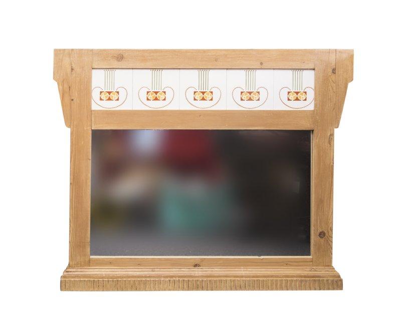 Art Deco Tegels : Grenen spiegel met art deco tegels cm vanaf